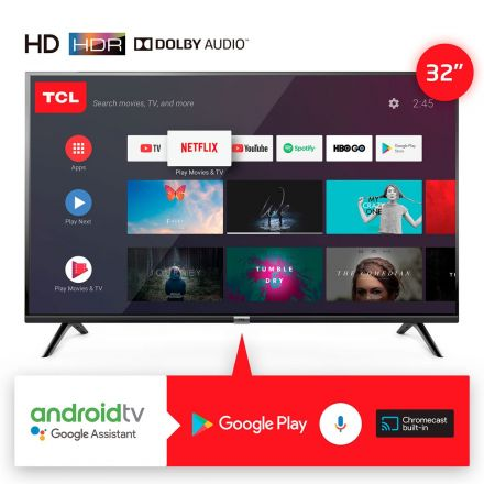 "SMART TV 32"" TCL GOOGLE ASSISTANT NEGRO"