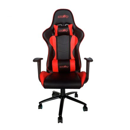SILLON GAMER LEVEL UP MODELO ARES ROJO/NEGRO